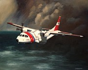 Coast Guard Painting Posters - Hc-144a Poster by Stephen Roberson