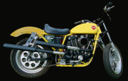 Harley Davidson Photo Originals - Hd Racebike Ii by Lawrence Christopher