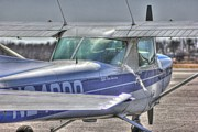 Airplane Photos Photos - HDR Airplane Single Prop Engine by Pictures HDR