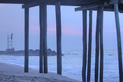 Beach Photograph Prints - HDR Beach Pier Ocean Beaches Art Photos Pictures Buy Sell Selling New Pics Sea Seaview Scenic   Print by Pictures HDR