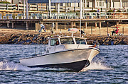 Oceanview Posters - HDR Boat Boats Sea Ocean Fishing Jetty Boadwalk Photos Pictures Photography Scenic Landscape Pics Poster by Pictures HDR