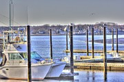 Hdr Photo Prints - HDR  Boat Waiting Wanting yet Tied Print by Pictures HDR