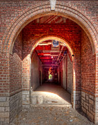 Myeress Framed Prints - HDR- Brick Doorway Framed Print by Joe Myeress