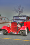 Mopar Metal Prints - HDR Classic Custom Hot Rod Car Cars Vintage Classic Photos Pictures Buy Sell Selling Old School Cool Metal Print by Pictures HDR