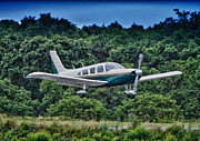 Buy Sell Photo Posters - HDR Green Plane Landing Runway Photos Pictures Buy Sell Selling Art Aircraft Photography Picture Pic Poster by Pictures HDR