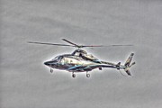 Helicopter Pilot Framed Prints - HDR Helicopter Aircraft Pilot Pictures Photos Buy Sell Selling Art New Photography Pics Framed Print by Pictures HDR