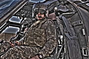 Throttle Framed Prints - Hdr Image Of A Pilot Sitting Framed Print by Terry Moore