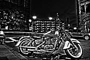 High Dynamic Range Framed Prints - HDR motorcycle Framed Print by Andrew Kubica