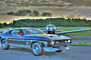 Airplane Photos Prints - HDR Mustang Plane Photo Pictures Photography Gallery New Sunset Hi Def Cool Muscle Car Cars Buy Sell Print by Pictures HDR