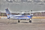 Single-engine Photo Prints - HDR Plane Tied Up Print by Pictures HDR