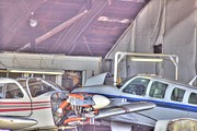 Airplane Photo Photo Framed Prints - HDR Planes Being Fixed Framed Print by Pictures HDR