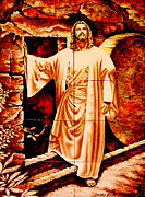 Easter Celebration Prints - He Is Risen Print by Al Bourassa