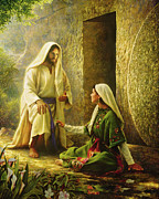 Mary Posters - He is Risen Poster by Greg Olsen