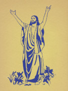 Silk Screen Posters - He Is Risen Poster by Marsha Elliott