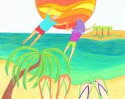 Sun Drawings - He Just Swept Her Off Her Feet by Geree McDermott