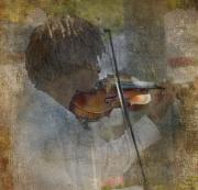 Sublime Metal Prints - He Plays At The Market II Metal Print by Rebecca Cozart