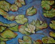 Lilly Pond Painting Prints - He Restores My Soul Print by Sue Ann Rybarczyk