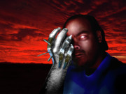 Photo Manipulation Mixed Media Prints - He Rules with an Iron Hand Print by Steven Love