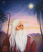 Star Of Bethlehem Painting Posters - He Saw A Great Light Poster by Karen Roncari