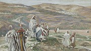 Bible. Biblical Framed Prints - He Sent them out Two by Two Framed Print by Tissot