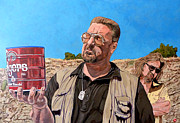Lebowski Paintings - He Was One Of Us by Tom Roderick
