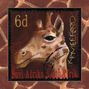Postage Stamp Prints - Head Above The Rest - Giraffe Print by Debbie McCulley