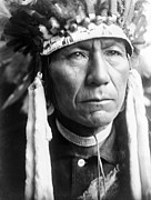 Nez Perce Prints - Head-and-shoulders Portrait Of Nez Print by Everett