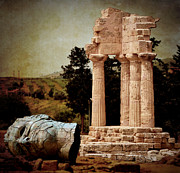 Pollux Prints - Head at Temple of Castor and Pollux Print by RicardMN Photography