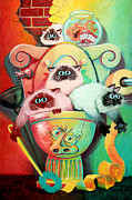 Surrealist Art - Head Cleaners by Baron Dixon