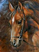 Horse Portrait Art - Head Horse by Arthur Braginsky