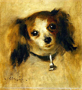 Nudes Canvas Posters - Head of a Dog by Renoir Poster by Pg Reproductions