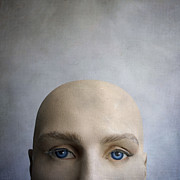 Contemplative Metal Prints - Head of a dummy. Metal Print by Bernard Jaubert