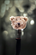 Teddybear Posters - Head Of A Teddy Poster by Joana Kruse