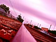 Train Tracks Photo Originals - Head on the Tracks by Chuck Taylor
