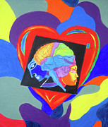 Finance Painting Originals - Head vs Heart by Seshadri Sreenivasan