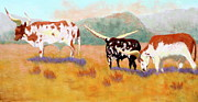 Ranch Pastels Prints - Headed for the Barn Print by Nancy Jolley