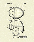 Baseball Artwork Drawings - Headgear 1926 Patent Art by Prior Art Design