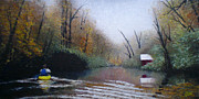 Riverscape - Early Autumn Prints - Headin Home Print by Bill Brown