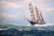 Tall Ships. Marine Art Paintings - Headin Home by William H RaVell III
