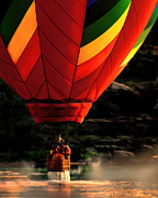 Hot Air Balloon Prints - Heading Back Up Print by Bob Orsillo