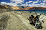 High Altitude Prints - Heading for the Blue - Pangong Lake Print by Rohit Chawla