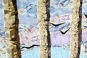 Fabric Quilts Tapestries - Textiles Posters - Heading Home Poster by Linda Beach