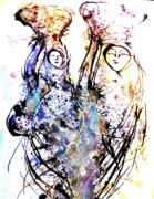 Pen  Mixed Media Prints - Heading Home Print by Mark M  Mellon