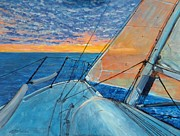Howe Paintings - Heading Home by Nigel Necklen