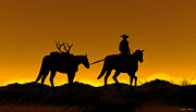Deer Silhouette Digital Art - Heading Home by Walter Colvin