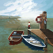 Bouys Paintings - Heading Out by Jennifer  Donald
