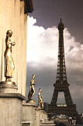Vintage Eiffel Tower Metal Prints - Heading to the Eiffel Toower Metal Print by Andrew Soundarajan