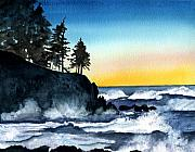 Maine Artist Paintings - Headland by Brenda Owen
