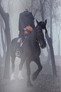 Ghost Story Metal Prints - Headless Horseman Metal Print by Christine Till