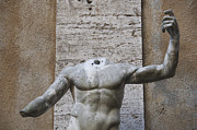 Torso Photo Acrylic Prints - Headless sculpture. Rome Acrylic Print by Bernard Jaubert